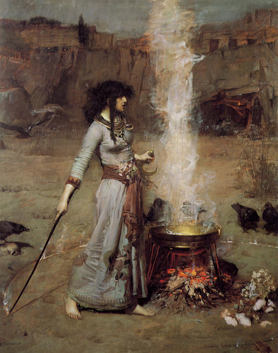 John William Waterhouse »Magic Circle«