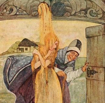 (50) »Frau Holle« ein Märchen der Gebrüder Grimm von 1857