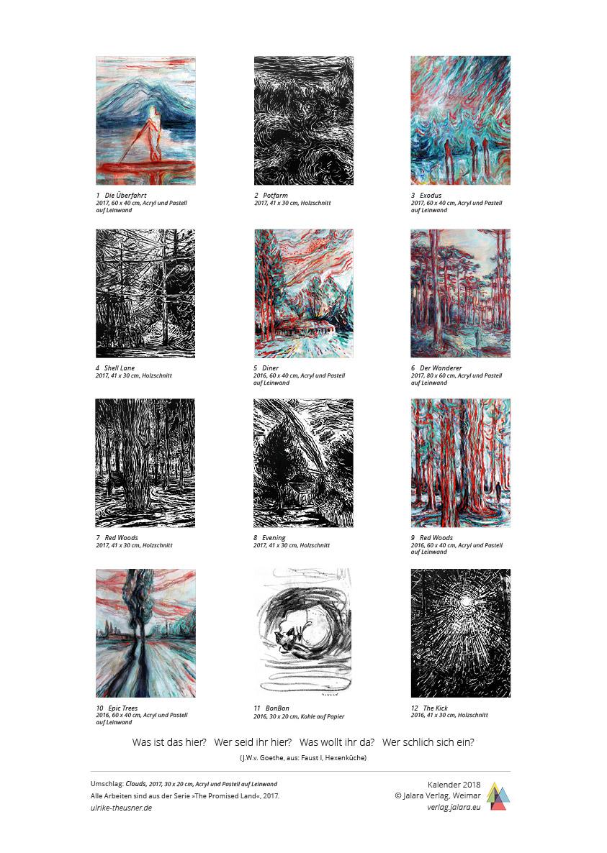 Ulrike Theusner Kalender 2017 Mahagonny Jalara Verlag