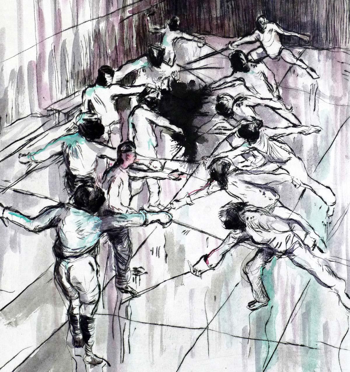 Der Kampf 2017 von Ulrike Theusner aus der Broschüre Die Kunst ist lang
